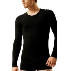 Brubeck Comfort Cotton Футболка мужская Long Sleeve c длинным рукавом синяя