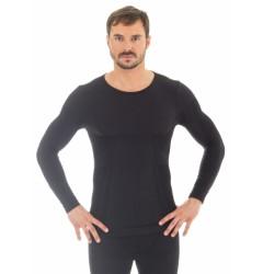 Brubeck Comfort Wool Футболка мужская с длинным рукавом черная