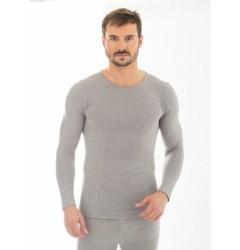 Brubeck Comfort Wool Футболка мужская с длинным рукавом серая