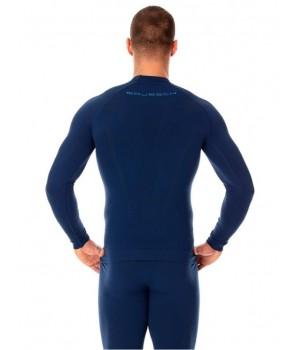 Brubeck Thermo Nilit Heat Футболка мужская с длинным рукавом синяя