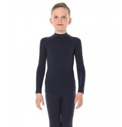 Brubeck Thermo Nilit Heat Футболка подростковая с длинным рукавом черная