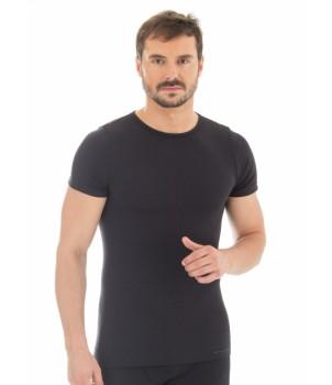 Brubeck Comfort Wool Футболка мужская с коротким рукавом черная
