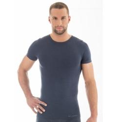 Brubeck Comfort Wool Футболка мужская с коротким рукавом синяя