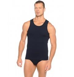 Brubeck Comfort Cotton Майка мужская Tank Classic синяя