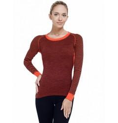 Norveg Climat Control Термофутболка женская Цвет оранжевый+черный