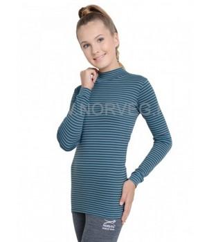 Norveg Soft City Style Водолазка женская шоколад/ментол