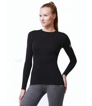 Norveg Soft Футболка женская (длинный рукав) черная