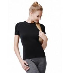 Norveg Soft Футболка женская (короткий рукав) черная