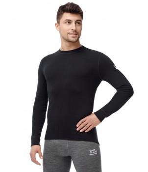 Norveg Soft Футболка мужская с длинным рукавом чёрная